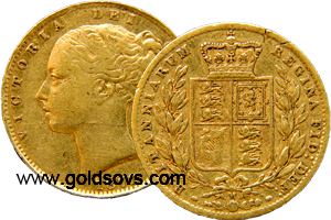 Melbourne Gold Soveriegn Shield 1885
