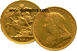 1894 Widow Head Gold Sovereign