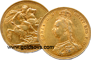 Proof Victoria 1887 Gold Sovereigns